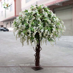 China UVG CHR047 wedding decoration Artificial Wisteria Blossom Tree indoor use 8ft high supplier