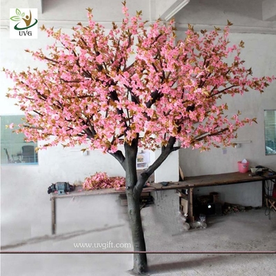 China UVG CHR048 Pink color Artificial Cherry Flower Tree for Wedding Decoration supplier