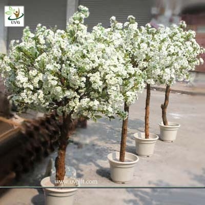 China UVG CHR052 Home Landscaping Artificial Cherry Blossom Potted Plastic Tree Centerpiece supplier