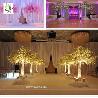 China UVG 10ft Wedding Decoration Trees in Silk Cherry Artificial Flower Manufacturer for Stage supplier