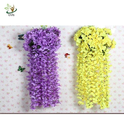 China UVG Artificial Flower Arrangements Christmas Wreath Plastic Wisteria Blossom for Party supplier