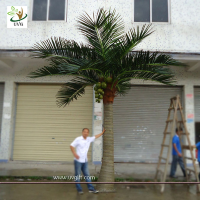 China UVG PTR002 20ft Artificial Palm Tree in big trunk for garden decoration and wedding favor supplier