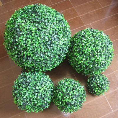 China UVG GR001 Artificial Plant Ball UV Plastic Leaf Boxwood Hedge supplier