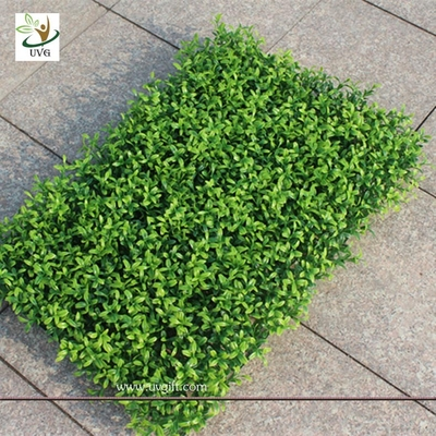 China UVG GRS06 Outdoor Plastic Boxwood Plants Artificial Grass Mat Garden Landscaping supplier