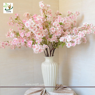 China UVG Pink artificial tree branches and leaves in silk blossoms for wedding table decoration supplier