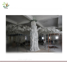 China UVG GRE010 15ft tall White plastic banyan artificial tree for pillar decoration supplier