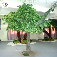 China UVG GRE026 12ft Indoor green banyan artificial decorative trees for office decoration supplier
