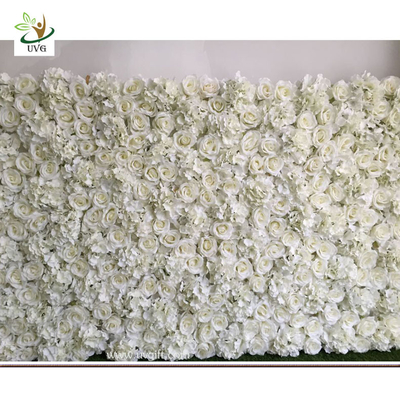China UVG DIY party background in fake rose and hydrangea flower wall backdrops for weddings item supplier