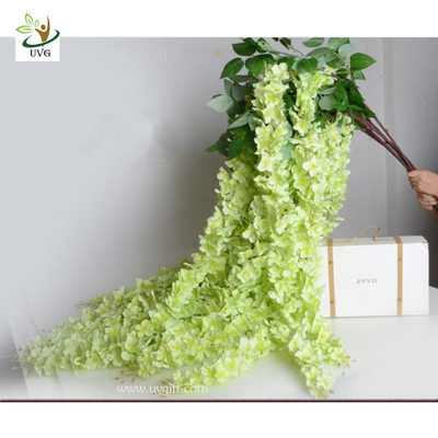 China UVG Green decorative artificial flower with silk wisteria for wedding stage decoration supplier