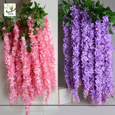 China UVG Indoor cheap fake flowers with wisteria branches for church wedding decoration WIS006 supplier