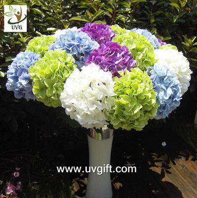 China UVG FHY21 Flower artificial wedding bouquets silk hydrangea for wedding stage decoration supplier