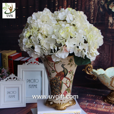 China UVG FHY22 White decorative fabric flower artificial hydrangea for wedding table decoration supplier