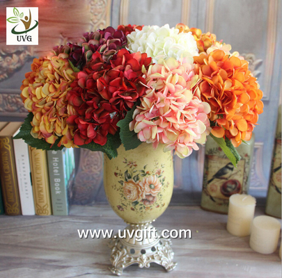 China UVG FHY25 fabric artificial hortensia wholesale silk flower hydrangea for home decoration supplier