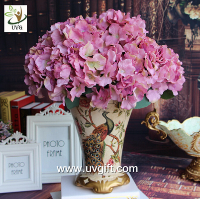 China UVG Purple artificial hydrangea flower and geranium making on china market for weddings supplier