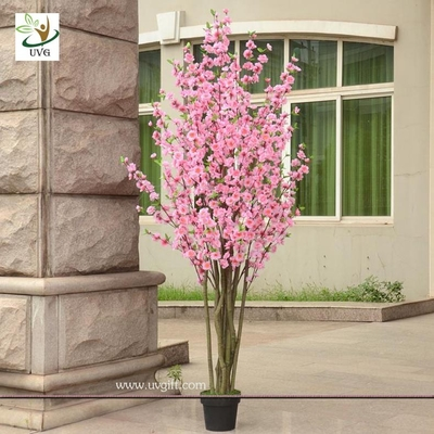 China UVG CHR053 pink cherry blossom bonsai tree with artificial flowers for party decoration supplier