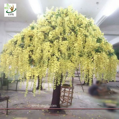 China UVG yellow wisteria blossoms large artificial trees for birthday and party decoration supplier