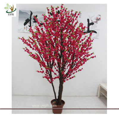 China UVG wedding decoration use 8 foot artificial dwarf cherry blossom tree for indoors supplier
