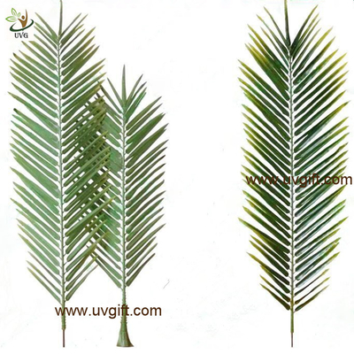 China UVG new design small PU real touch artificial palm tree leaves for club landscaping PTR043 supplier