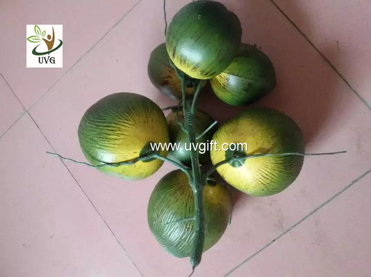China UVG PTR045 high simulation plastic artificial coconut for palm tree decoration supplier