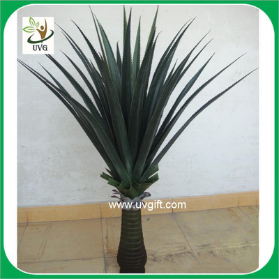 China UVG PLT09 wholesale everygreen PU tropical plant potted sisal hemp fake outdoor plants supplier