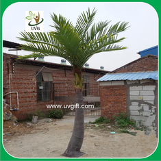 China UVG PTR040 small palm tree artificial with silk leaves for garden decoration supplier