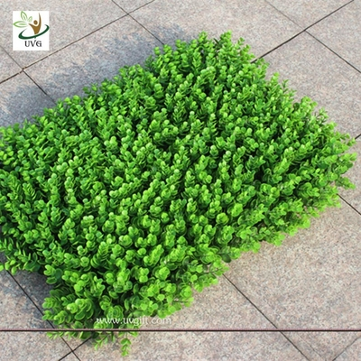 China UVG GRE05 grass mat artificial hedge boxwood for vertical garden green wall decoration supplier