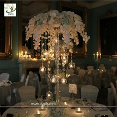 China UVG event party supplier 5ft wedding decoration table centerpiece in artificial orchids supplier
