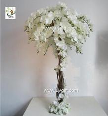 China UVG CHR124 Wedding Stage Decoration Life size Silk Orchids Artificial Tree Centerpiece supplier
