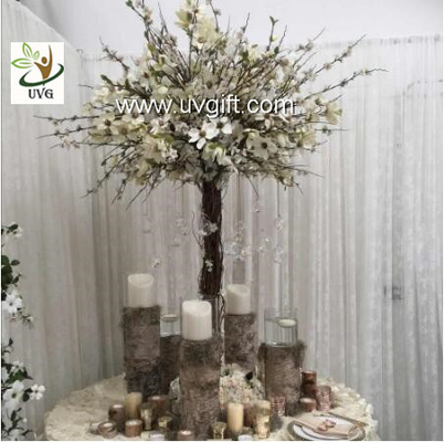 China UVG Decorative Centerpieces Table Wedding Blossom Trees White Artificial magnolia flower supplier