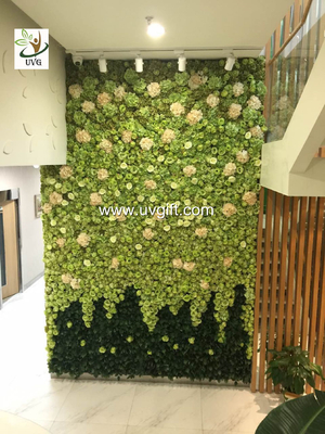 China UVG wedding stage backdrop decoration in fake rose and hydrangea for flower wall CHR1109 supplier