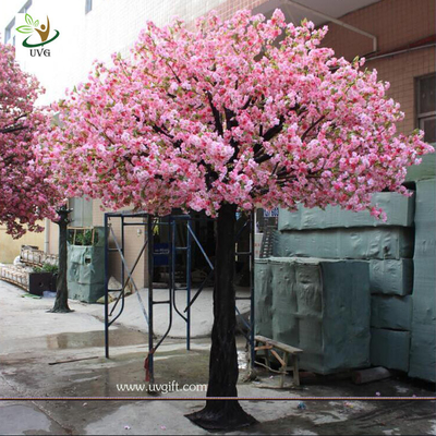 China UVG 10ft pink artificial blossom tree with silk cherry flowers for indoor event decoration supplier