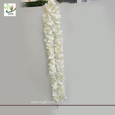 China UVG wedding use realistic fake white wisteria flower vine for home garden wall decoration supplier
