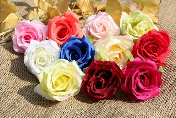 China UVG FBL02 silk roses artificial flower head for wedding flower wall backdrop use supplier