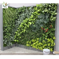 China UVG GRW021 Fake vertical garden in plastic artificial plants for indoor and outdoor wall decoration supplier