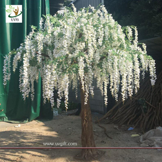 China UVG walk way decoration 10ft white wisteria blossom fake trees for wedding WIS014 supplier