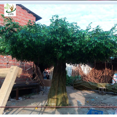 China UVG china home decor wholesale green banyan large artificial tree for play center landscaping GRE055 supplier