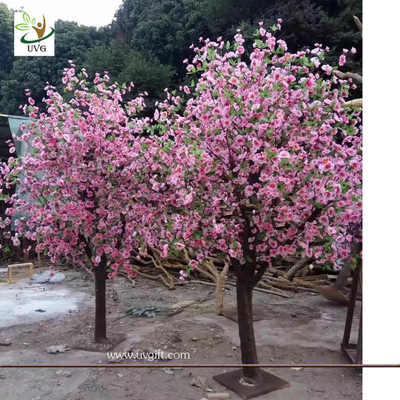 China UVG table centerpieces pink peach blossom small artificial tree for wedding photograph background decoration CHR158 supplier