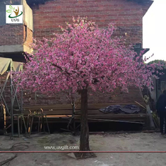 China UVG garden wedding decorations fake blossom tree with pink peach flowers 3 meters height CHR154 supplier