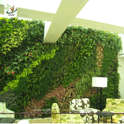 China UVG GRW030 Green Color Artificial Plants and Flowers for Outdoor Garden wall Grass Walls supplier