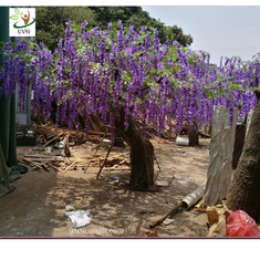 China UVG wedding planner artificial flower arrangements purple wisteria blossoms fake tree for beach club decoration supplier