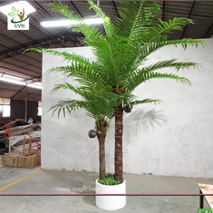 China UVG indoor bonsai artificial mini palm trees with plastic leaves for office landscaping PTR061 supplier
