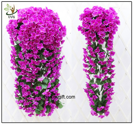 China UVG artificial flowers wholesale hanging silk violet wreath for wedding flower arrangements WIS017 supplier