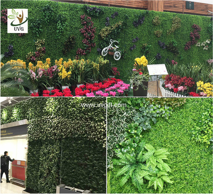 China UVG artificial green living wall with plastic grass for vertical garden decoration GRS09 supplier
