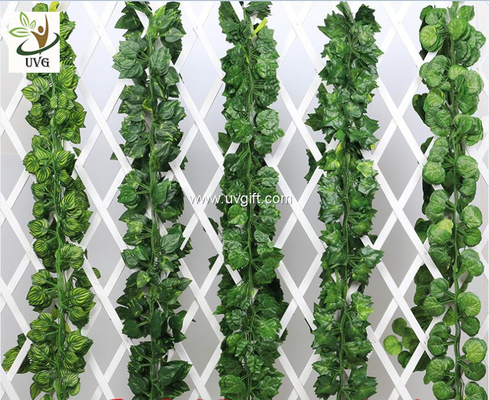China UVG decorating ideas hanging plastic ivy leaves artificial vines for wedding themes use DHP01 supplier