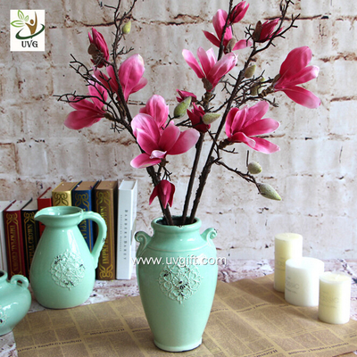 China UVG diy wedding decorations silk magnolia branches faux flowers for table centerpieces FMA58 supplier