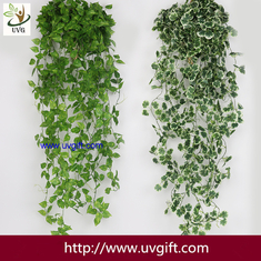 China UVG 90cm long artificial grape vines fake ivy with plastic leaf garland for garden ornament BHP01 supplier