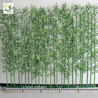 China UVG wholesale decorative artificial lucky bamboo in silk and plastic leaves for indoor decoration PLT19 supplier
