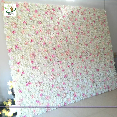 China UVG wedding planner party flower arrangements in silk rose flower wall for backdrop decoration CHR1138 supplier