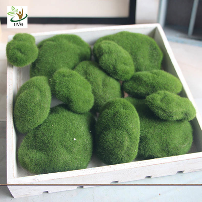 China UVG different size fuzzy artificial decorative moss balls fake rock for aquarium landscaping GRS039 supplier