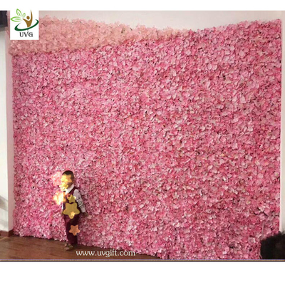 China UVG cheap wedding backdrop design plastic grid artificial flower wall and arch for wedding decor CHR1142 supplier